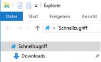 Schnellzugriff im Explorer von Windows 10