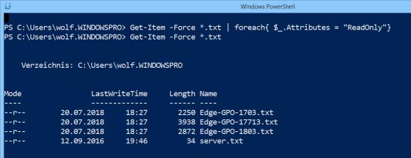 Dateiattribute an mehrere Files in einer Schleife zuweisen.
