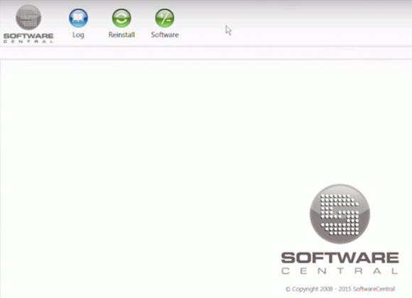 Die Web-Oberfläche von SoftwareCentral zeigt nur die Features, für die ein User Berechtigungen hat.