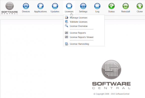 Funktionen des Lizenzmoduls von SoftwareCentral