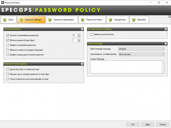 In the general settings, the admin can restrict the reuse of passwords.