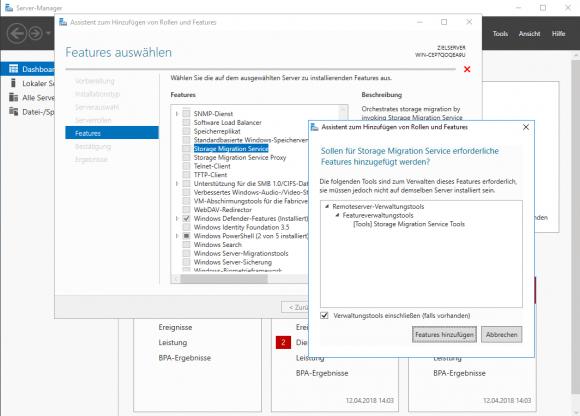 Die Verwaltungs-Tools für die Storage Migration Services bestehen aktuell aus einem PowerShell-Modul.
