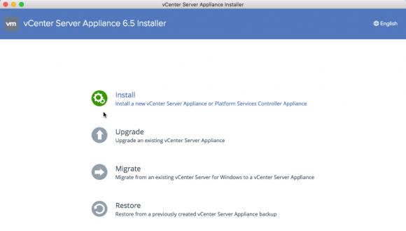 Die Installationsroutine des vCSA 6.5 enthält auch eine Option zum Migrieren eines vCenter unter Windows.