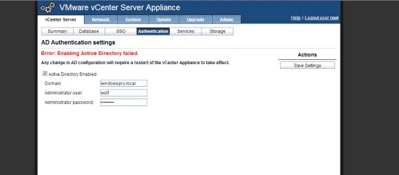 Wenn der Beitritt des vCenter Server Appliance zu einer AD-Domäne scheitert, dann kann die Kommandozeile weiterhelfen.