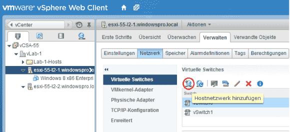 Der Wizard für das Hinzufügen von Hostnetzwerken kann auch einen VMkernel-Adapter erzeugen.