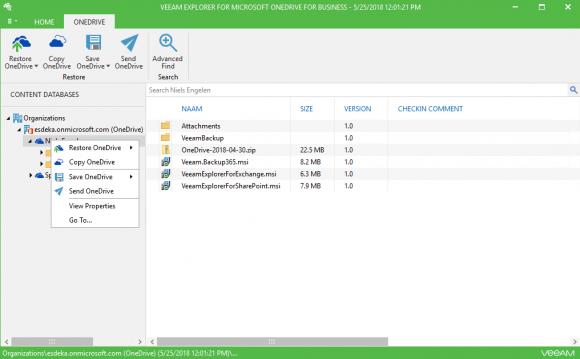 Wiederherstellung von Dateien und Ordnern auf OneDrive for Business