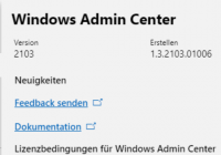 Windows Admin Center 2103