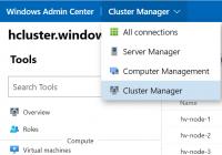 Cluster Manager im Windows Admin Center
