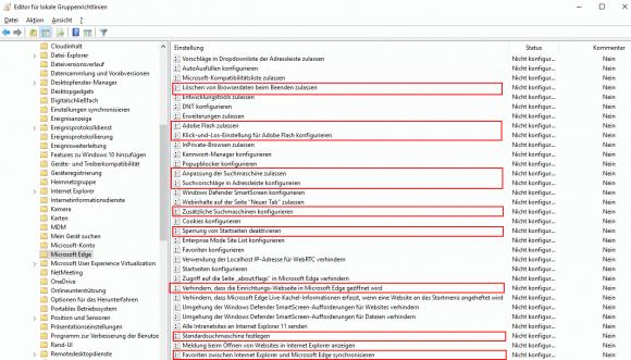 Windows 10 1703 bringt eine Reihe von neuen Einstellungen für Gruppenrichtlinien.