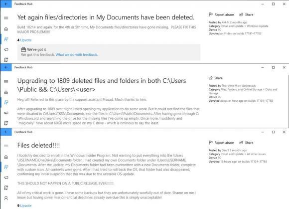 Der Fehler, der nun zum Stopp der Auslieferung von Windows 10 1809 zwang, war schon seit Monaten bekannt.