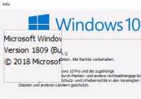 Windows 10 1809 Winver
