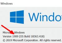 Windows 10 1909 Build 18363.418