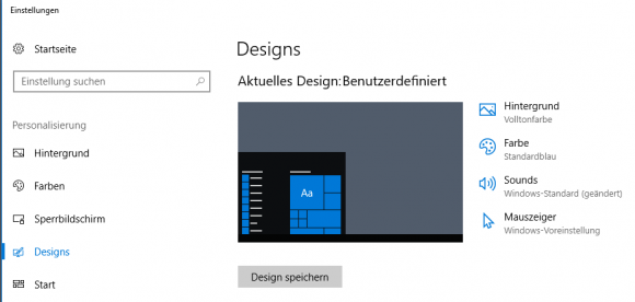 Die App Einstellungen sieht auch schon in Windows 10 1703 keine Konfiguration der Bildschirmschoner mehr vor.