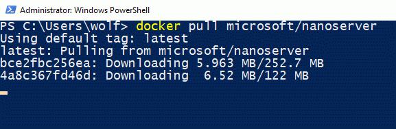Basis-Image für Nano Server herunterladen