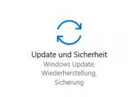 Update und Sicherheit in der App Einstellungen