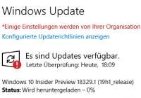Manuelle Installation von Preview-Updates, auch wenn der Client an WSUS angeschlossen ist.