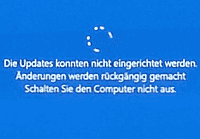 Rollback nach gescheitertem Feature-Update von Windows 10
