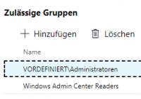Zugriffsteuerung in Admin Center über Rollen