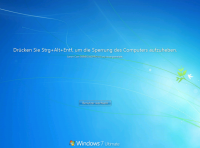 Bildschirm entsperren in Windows 7