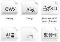 Schriftarten in Windows 10