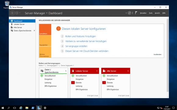 Windows Server 2016 mit Desktop Experience folgt dem LTSB und erhält die Neuerungen erst später.