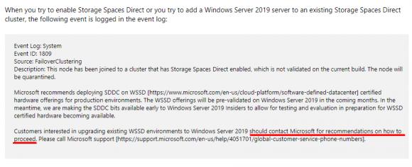 Anwender, die aktuell S2D in Windows Server 2019 nutzen wollen, müssen sich erst an Microsoft wenden.