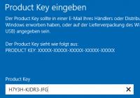Produktschlüssel für den Wechsel der Edition eingeben