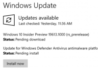 Windows Update available