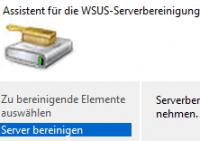 WSUS Server-Bereinigung