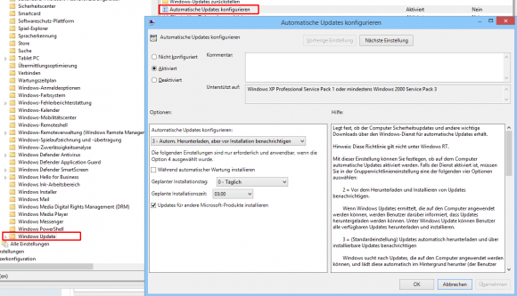 Automatische Updates über GPO konfigurieren