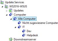 Gruppen für Computer in WSUS