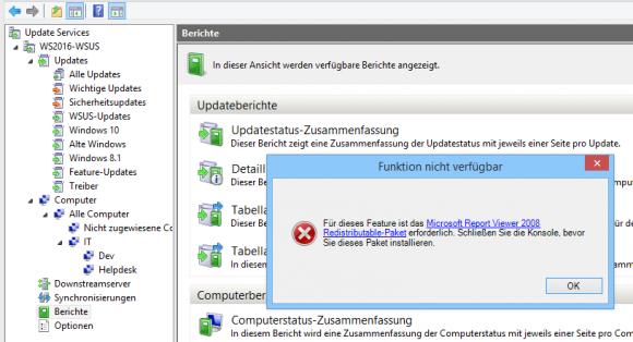 Der Report Viewer muss separat heruntergeladen und installiert werden.