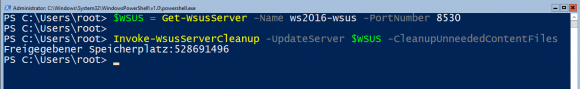 Nicht benötigte Update-Dateien entfernen mit PowerShell
