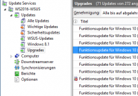 Feature-Updates für Windows 10 in WSUS