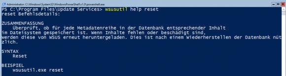 wsusutil.exe sorgt mit dem Schalter reset dafür, dass fehlende Updates nachgeladen werden.