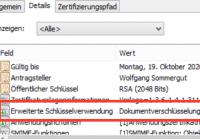 Zertifikat für Dokumentenverschlüsselung