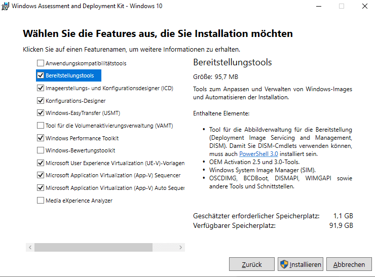 Windows 10 1809 und Server 2019: ADK und WinPE als separate