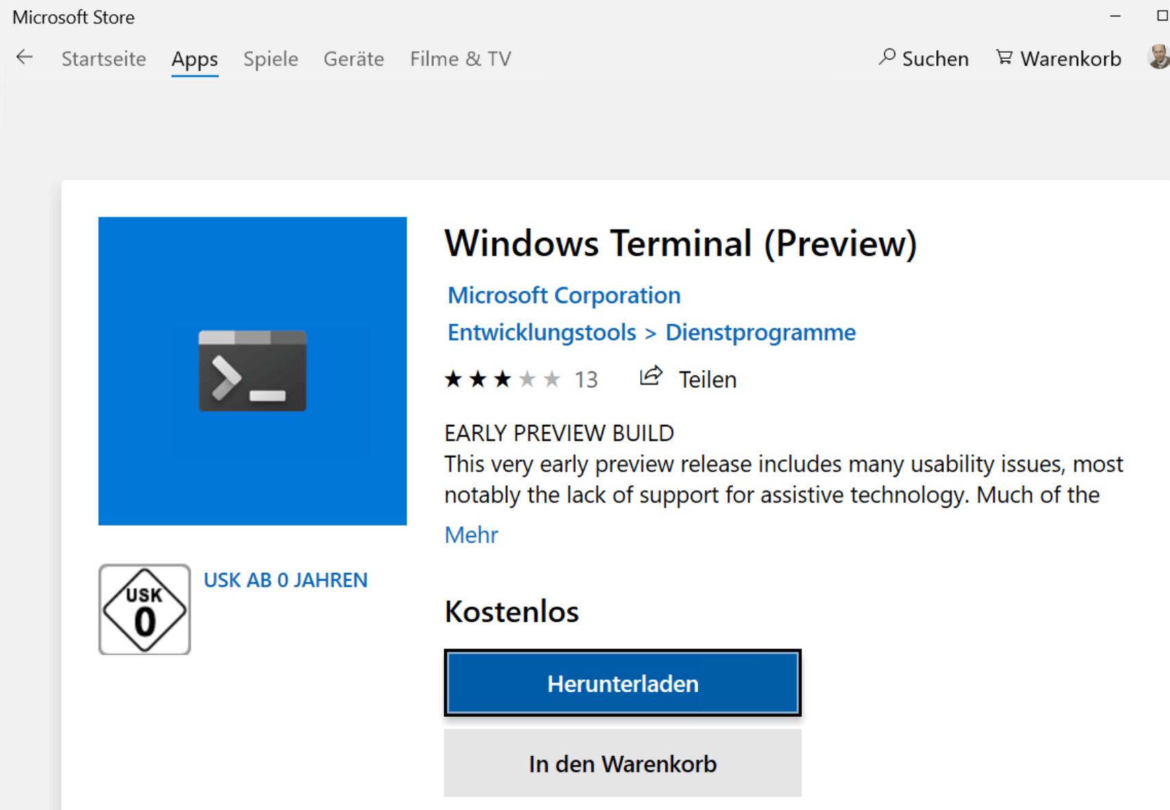 Windows Terminal: Microsofts Konsole für alle Kommandozeilen