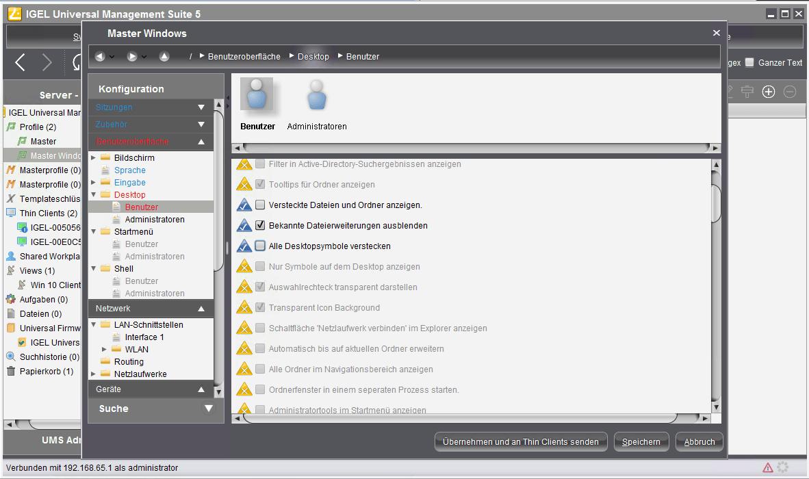 IGEL UMS: Thin-Clients und Windows-PCs mit einem Tool