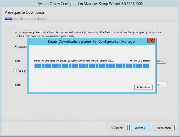 Ordner für zusätzliche Dateien angeben, die heruntergeladen werden.