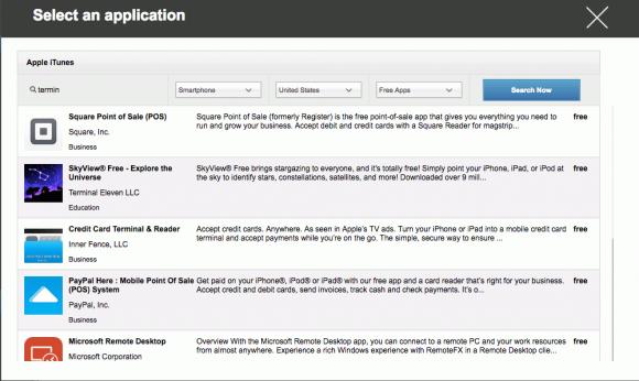 AppTech-Admins können hauseigene App-Kataloge für die Mobilanwender vordefinieren.