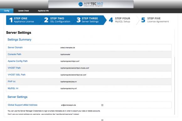 Die AppTec-Appliance muss für die Inbetriebnahme in wenigen Schritten über eine Browseroberfläche konfiguriert werden.