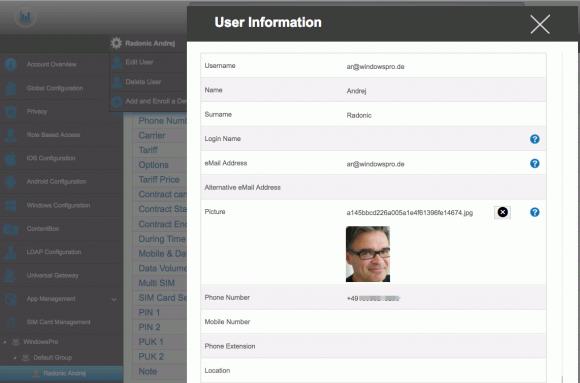 AppTec EMM verfügt über eine User-Verwaltung, über welche Anwendern auch administrative Rollen zugewiesen werden können.