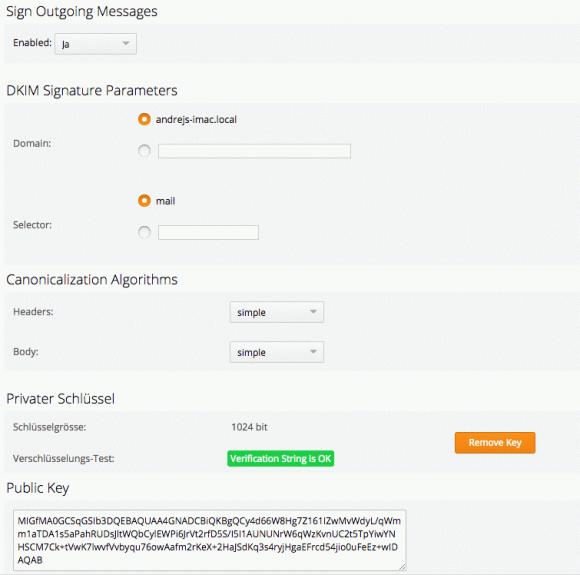 Mittels digitaler Signaturen kann CommuniGate Pro Mails per DKIM-Verfahren verschlüsseln.