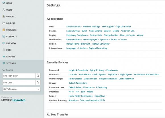 Admins verwalten die Software über eine Web-Oberfläche.