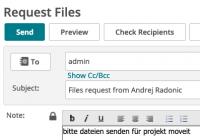 Dateiübertragung anfordern in MOVEit
