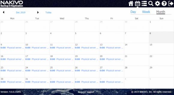 Der Job-Kalender bietet nicht nur eine Übersicht über alle geplanten Jobs, sondern erlaubt auch die Planung neuer Jobs.
