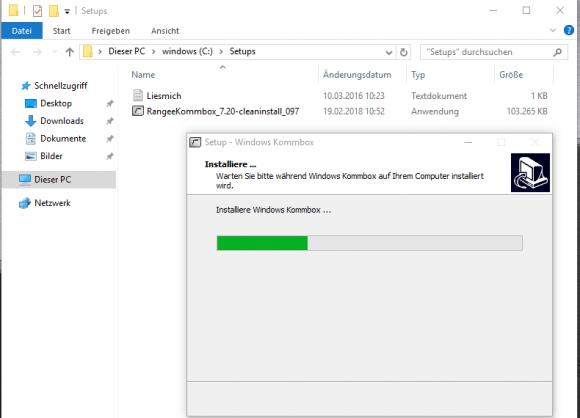 Die Windows Kommbox von Rangee kann auf Desktops mit Windows 7 und Windows 10 installiert werden.
