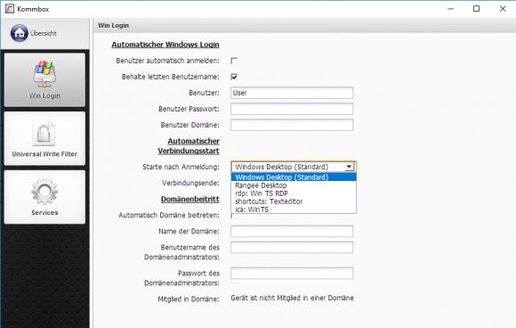 Der Administrator entscheidet, ob Anwender eine abgespeckte Windows-Oberfläche oder den Rangee-Desktop erhalten.