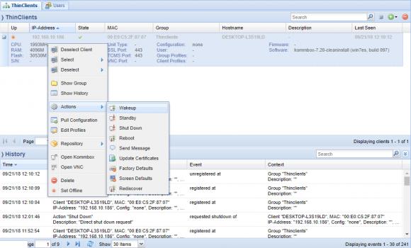 Über den Rangee Thin Client Management Server (TCMS) können sämtliche Clients zentral verwaltet und gesteuert werden.
